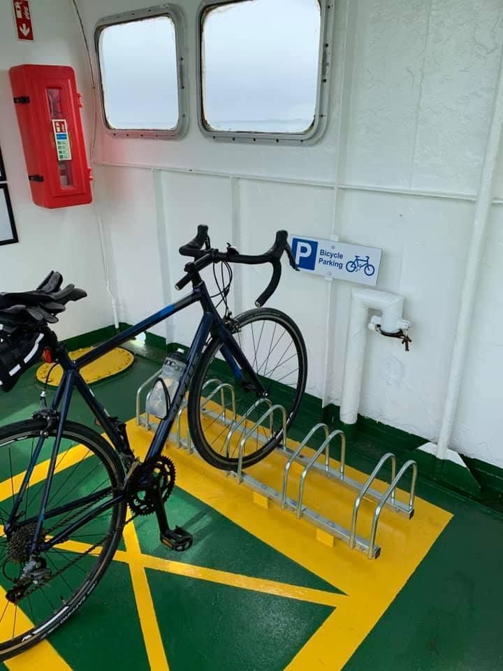 Bike Rack on The Carlingford Lough Ferry