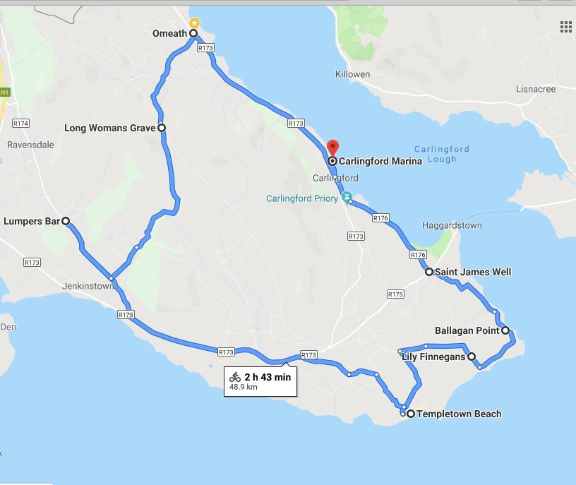 48.9km including the Lumper's detour !